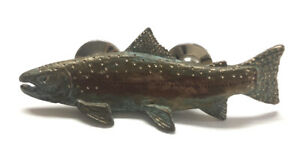 Cavin Richie Bronze Steelhead Trout Fish 2 Post Pin 2005 USA