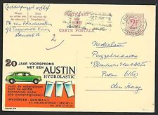 Belgium covers 1966 private Advertising PC AUSTIN/Hydrolastic Brussels-The Hague