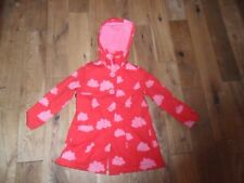 NEXT* GIRLS SIZE 5-6 YEARS RED/PINK HOODED JACKET CLOUD DESIGN FLEECE LINED*VGC*