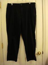 Men's St. John's Bay Loose Fit Black Khaks Flat Front Pants Size 40 x 30