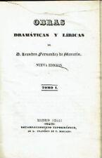 Obras dramáticas y líricas de Leandro Fernández de Moratin, 2 tomos. Leandro Fer