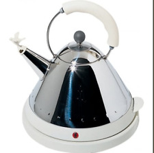 ALESSI White Electric Kettle Cordless MG32 W FREE DELIVERY