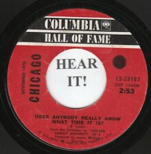 Chicago 70s ROCK 45 (Columbia 33197) Does Anybody Really Know What Time It  VG++
