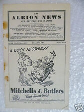 1953 WEST BROMWICH ALBION v DERBY COUNTY, 28th March (Original*)