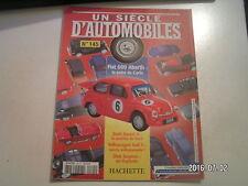 ** Un siècle d'automobile n°145 Fiat 600 Abarth / Saab Sonett II / Dick Seaman