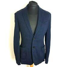 MAURIZIO BALDESSARI Mens Blazer 42R Soft Wool Blue Black Check Slim Fit Italy