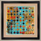 """35W""""x35H"""": FIBONACCI 213 by JYLIAN GUSTLIN CIRCLES DOUBLE MATTE, GLASS and FRAME"""