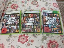 Spiele-Sammlung XBOX 360: 3x Grand Theft Auto (4 IV + 5 V + Liberty City) Games