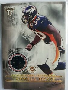 Terrell Davis/ Brian Griese Pacific Titanium 2001 # 79 Double Side Game Used