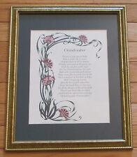 "Framed Matted ""Grandmother"" Flower Print © 1993 Writer's Ink Gwendolyn W. Ebron"