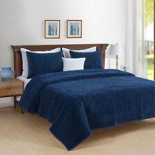 Park Avenue Charlotte Cotton Velvet Comforter | Bedspread | Coverlet set 3 Sizes