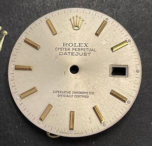 Rolex Datejust Men's 36mm 2-Tone Silver Quickset Stick Dial Oyster model 16013