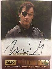 Walking Dead Season 4 PART 1 David Morrisey  - The Governor GOLD AUTOGRAPH DM1