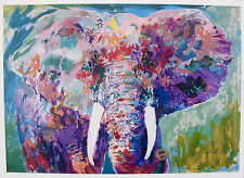 LeRoy Neiman Charging Bull Limited Edition Postcard Lithograph