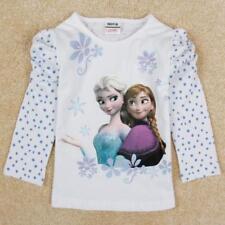 T-shirt bleu manches longues pour fille de 2 à 16 ans
