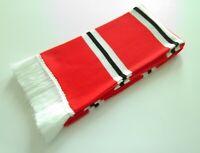 Manchester United Scarves - Red/White/Black Retro Man Utd Football Bar-Scarf