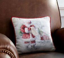 POTTERY BARN NOSTALGIC SANTA'S LIST CHRISTMAS  PILLOW NEW