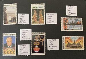 Marshall Islands Sg328/330/339/340/370/329 Single Set Stamps U/M Cat £7,60