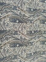 Liberty of London Print Paxton Fabric Blue Beige Brown Paisley 122x53 in 3.3yd