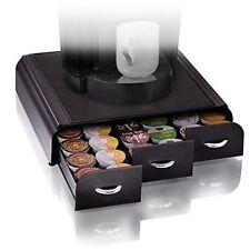 Coffee Pod Storage 36 Keurig K-cups Holder Triple Drawer Single Serve Rack Black