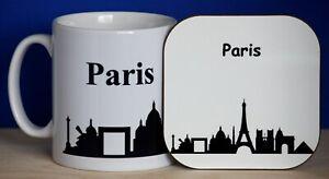 Paris Skyline Mug and Coaster Set
