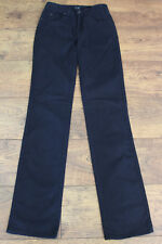 "ARMANI Ladies Dark Blue ROSE DENIM JEANS - Waist 26"" - Leg 34"""