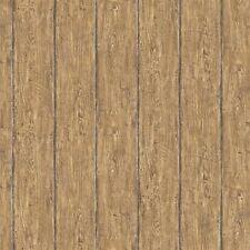 Walnut Brown Worn Wood Brewster Easy Walls Wallpaper HTM49416