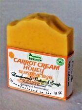 Unscented Handmade Carrot Soap sensitive skin for eczema,psoriasis,acne