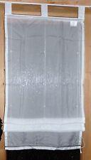 Raffrollo Schlaufen Weiß Stickerei 60/140cm Polyester  NEU  939259-1