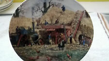 WEDGWOOD QUEENS WARE DECORATIVE PLATE  THRESHING  FROM   THE FARM YEAR SERIES