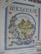 Bucilla Welcome Sampler Cross Stitch Kit - 8x10 Inches & Frame #33295