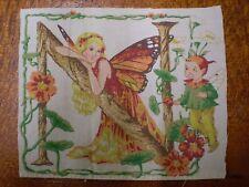 Vintage FAIRY LETTER 'N' Fabric Panel (16cm x 14cm)