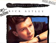 "12"" - RICK ASTLEY - NEVER GONNA GIVE YOU UP (DISCO) SPANISH PRESS. NEW LISTEN"