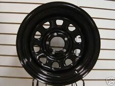 Black Mountain Black Rock Wheel Combo 5x4.5 Bolt Pattern Steel Wheels in Black