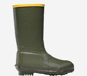"""Lacrosse Lil' Burly 9"""" Youth Hunting Boots OD Green Sz 11 266003"""