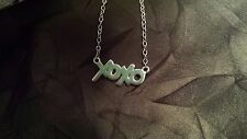 Awesome Designer Sterling Silver XOXO Kisses & Hugs Pendant Necklace - 15""