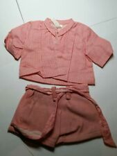 """16"""" Vintage Antique Terri Lee tagged original pink & white checkered outfit"""