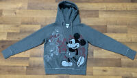 Walt Disney World Disneyland Resort Mickey Mouse Pullover Hoodie Women M GrayEUC