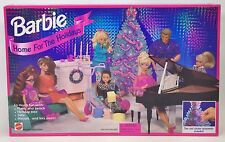 BARBIE HOME FOR THE HOLIDAYS PLAYSET NRFB
