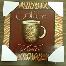 """1 NEW RARE app. 12"""" x 12"""" COFFEE TIME KITCHEN WALL PICTURE on canvas print"""