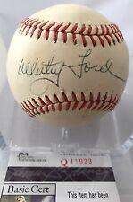 WHITEY FORD Autographed Baseball - JSA COA New York Yankees HOF!!!