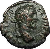 SEPTIMIUS SEVERUS Authentic Ancient 193AD Roman Coin Nicopolis DEMETER i67314