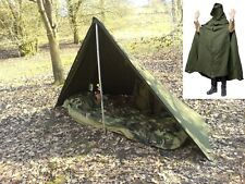 POLISH ARMY NOS MILITARY LAAVU TENT 1 PERSON (1x PONCHO) SHELTER TARP  Size 1