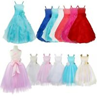 Flower Girl Kids Wedding Princess Dress Bridesmaid Birthday Party Prom Ball Gown