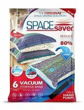 SpaceSaver Premium Reusable Vacuum Storage Bags Double Zip Seal & Leak Valve