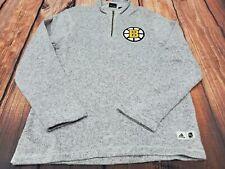 Adidas Boston Bruins 1/4 Zip Sweater Mens Size M NEW NHL HOCKEY $90