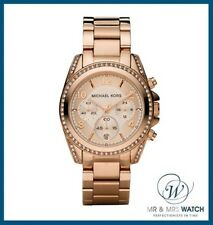NEW Ladies Michael Kors Rose Gold Blair Chronograph Watch-MK5263-RRP £250
