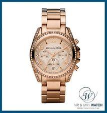 NEW Ladies Michael Kors Rose Gold Blair Chronograph Watch-MK5263-RRP £250