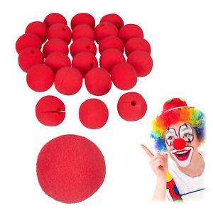 Clownsnasen rot, Clown Nase Erwachsene & Kinder, 25 Stück, Rote Nase Schaumstoff