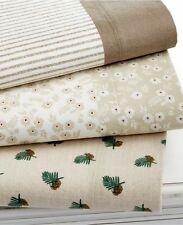 NEW Martha Stewart Collection Coordinating Flannel Twin Sheet Set Y230